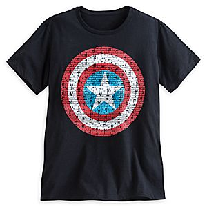 Captain America Text Shield Tee for Men