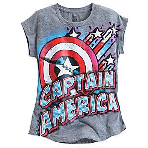 Captain America Logo Sleeveless Tee for Girls