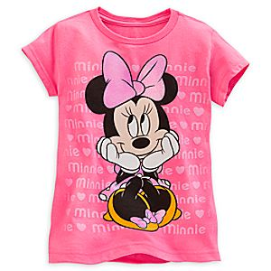 Minnie Mouse Tee for Girls - Valentines Day