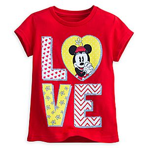 Minnie Mouse Tee for Girls - I Love Mickey Collection