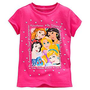 Disney Princess Selfie Tee for Girls