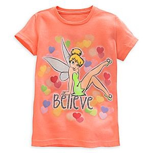 Tinker Bell Tee for Girls - Valentines Day