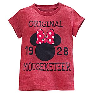 Minnie Mouse Icon Mouseketeer Tee for Girls