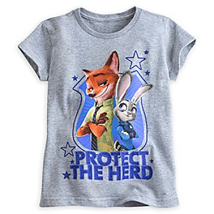 Judy Hopps and Nick Wilde Tee for Girls - Zootopia