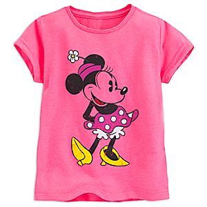 Minnie Mouse Classic Tee for Girls - Pink