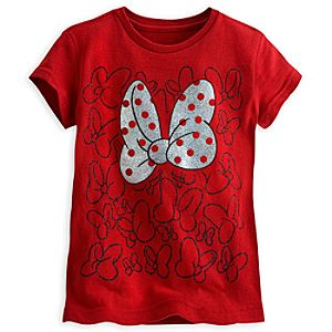 Minnie Mouse Metallic Bow Tee for Girls