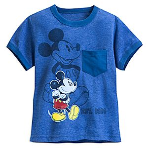 Mickey Mouse Heathered Ringer Tee for Boys