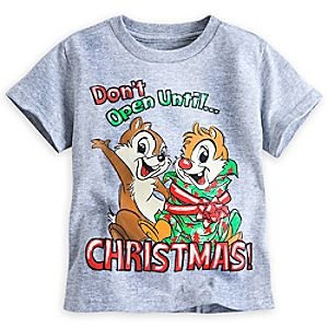 Chip n Dale Holiday Tee for Kids