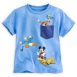 Mickey Mouse and Friends Pocket Tee for Boys  - Deluxe Storytelling