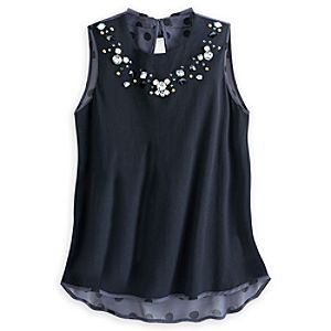 Minnie Mouse Icon Beaded Tank Top for Women