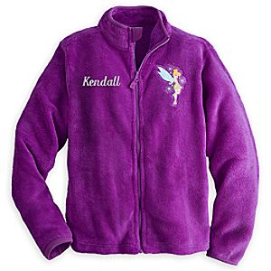 Tinker Bell Fleece Jacket for Women - Personalizable