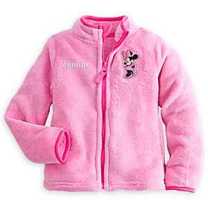 Minnie Mouse Fleece Jacket for Girls - Personalizable