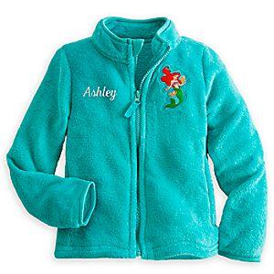 Ariel Fleece Jacket for Girls - Personalizable