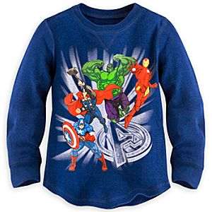 Marvels The Avengers Long Sleeve Thermal Tee for Kids