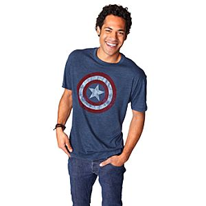 Captain America Shield Tee for Men by Mighty Fine