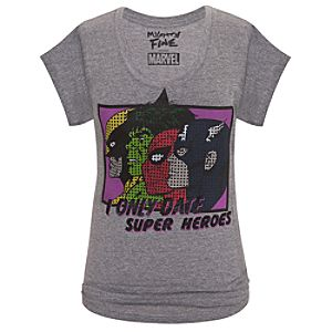 I Only Date Super Heroes Marvel Universe Tee for Women by Mighty Fine