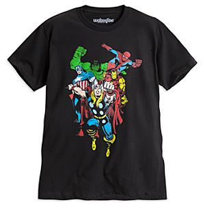 Marvel Comics Heroes Tee for Men by Mighty Fine
