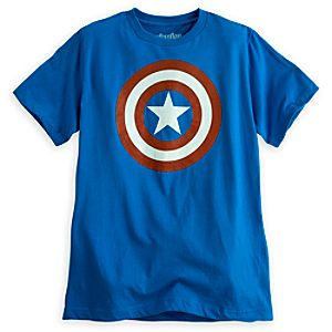 Captain America Icon Tee for Men by Mighty Fine