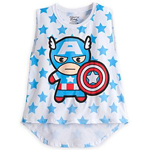 Captain America Tank Tee for Women by Mighty Fine