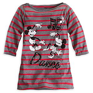 Mickey and Minnie Mouse 1928 Boatneck Tee for Women