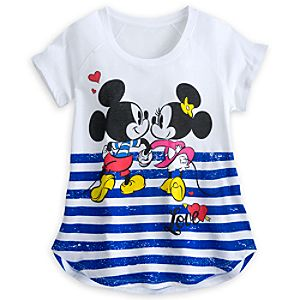 Mickey and Minnie Mouse I Love Mickey Top for Women