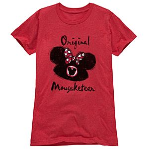 Original Mouseketeer Minnie Mouse Tee for Women -- Made With Organic Cotton