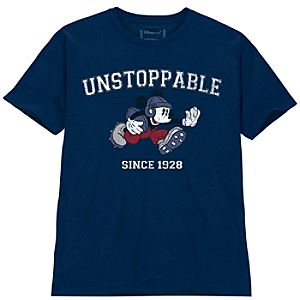 Unstoppable Football Mickey Mouse Tee for Men -- Plus Size -- Made With Organic Cotton
