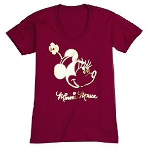 V-Neck Minnie Mouse Tee for Women -- Made With Organic Cotton