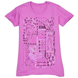 Collage Tinker Bell Tee for Women -- Made With Organic Cotton