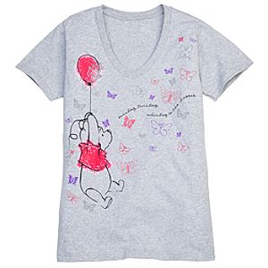V-Neck Pooh Tee for Women -- Made With Organic Cotton