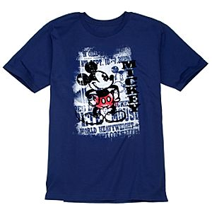 World Champion Mickey Mouse Tee for Men -- Made With Organic Cotton