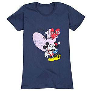 Organic Cotton Minnie Loves Mickey Tee for Women