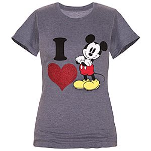 I Love Mickey Mouse Tee for Women