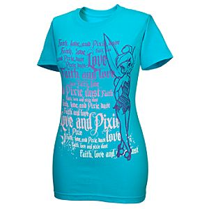 Faith, Love and Pixie Dust Tinker Bell Tee for Women