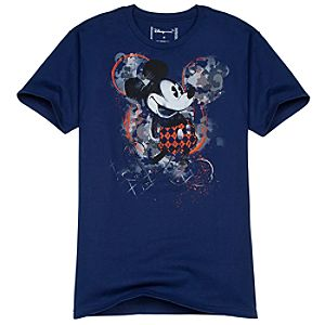 Splash Camouflage Mickey Mouse Tee for Men -- Made With Organic Cotton