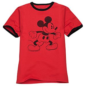 Ringer Mickey Mouse Tee for Men -- Made With Organic Cotton