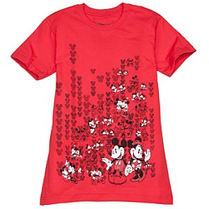 Happy Couple Minnie and Mickey Mouse Tee for Women -- Made With Organic Cotton