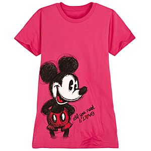Sketch Mickey Mouse Tee for Women -- Made With Organic Cotton