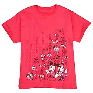 Collage Art Minnie and Mickey Tee for Women -- Plus Size -- Made With Organic Cotton