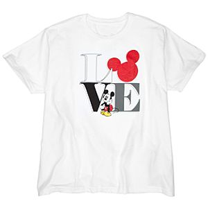 Love Mickey Mouse Tee for Women -- Plus Size -- Made With Organic Cotton