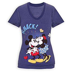 Smack! Minnie and Mickey Mouse Tee for Women