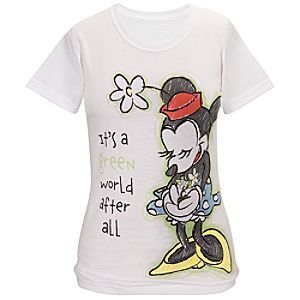 Its A Green World After All Minnie Mouse Tee for Women