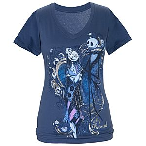 Sally and Jack Skellington Tee for Women