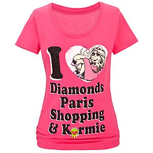 Scoop Neck Miss Piggy Tee for Women