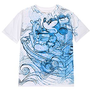 Steamboat Willie Mickey Mouse Tee for Men