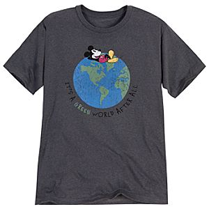 Its A Green World After All Mickey Mouse Tee for Men
