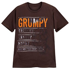 Grouchy Cranky Moody Grumpy Tee for Men