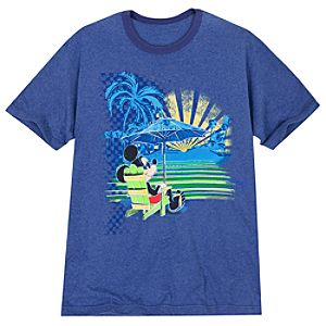 Beach Mickey Mouse Tee for Men