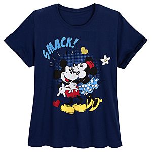 Smack! Minnie and Mickey Mouse Tee for Women -- Plus Size