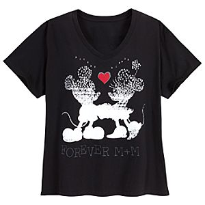 Forever M+M Mickey Mouse and Minnie Mouse Tee for Women -- Plus Size